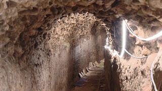 Parte del alcantarillado del siglo I DC en Calahorra se conserva íntegro.