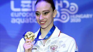 Варвара Субботина на соревнованиях в Будапеште