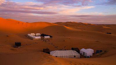 Desert camping, Oman