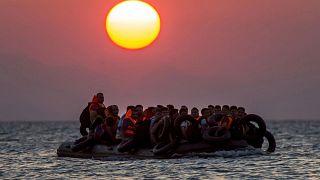 Ege Denizi'nde kaçak göçmenler