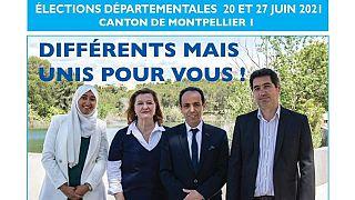 پوستر تبلیغاتی حزب حاکم فرانسه در مونپلیه