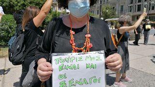 Διπλωματούχοι ξεναγοί - διαδήλωση