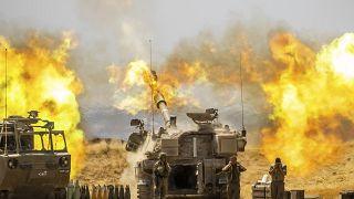 Tir d'artillerie israélien sur la Bande de Gaza, le 12/05/2021