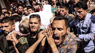 Hayatını kaybeden bir Filistinli