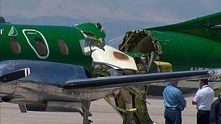 Uno de los aviones accidentados en el Aeropuerto Denver Centennial
