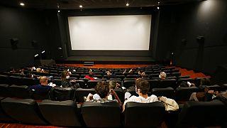 Une salle de cinéma à Rome (Italie) le 26 avril