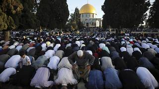 Gebete für Gaza am muslimischen Eidfest