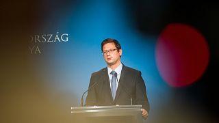 A Miniszterelnökséget vezető miniszter egy tavaly októberi Kormányinfón