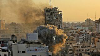 3. Hochhaus in Gaza-Stadt dem Erdboden gleichgemacht