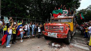 Manifestantes indígenas asistieron a una marcha antigubernamental en Cali, Colombia, el 12 de mayo de 2021.