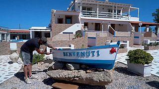 Luca Maraventano, propietario del hotel Residence Tartaruga Rossa en Lampedusa (Italia)