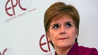 Scotland's First Minister Nicola Sturgeon speaks during a 'Scotland's European Future after Brexit' event at the European Policy Center in Brussels on 10 February, 2020.