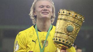 Erling Haaland trug mit zwei Treffern entscheidend zum Pokaltriumph des BVB bei