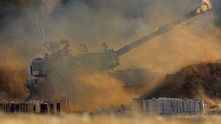 Une unité d'artillerie israélienne à la frontière de la bande de Gaza, jeudi 13 mai 2021