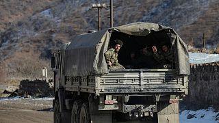 نیروهای آذربایجان در کلبجر در جنگ قره باغ ۲۰۲۰