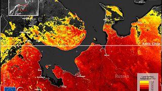 La temperatura della superficie terrestre intorno al mare di Barents, giovedì 13 maggio, ha raggiunto i 30º C