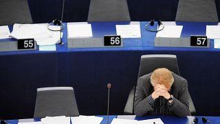 دنیل کوهن بندیت، نماینده پیشین پارلمان اروپا پس از یک جلسه بیحاصل درباره محاصره غزه/ آرشیو ۲۰۱۶