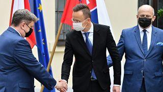 A V4 külügyminisztereinek tanácskozása Lengyelországban, 2021. május 14.