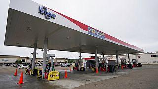 Üzemanyaghiány miatt bezárt benzinkút Mississippi államban
