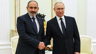Никол Пашинян и Владимир Путин 7 апреля 2021