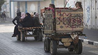 Auf der Flucht in einem Vorort von Gaza-Stadt
