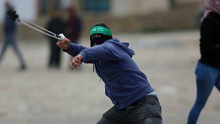 درگیری معترضان فلسطینی با پلیس اسرائیل در بتال