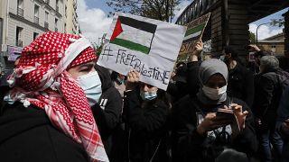 Rassemblement pro-palestinien à Paris, en dépit de l'interdiction des autorités - le 15/05/2021