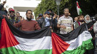 Rabat'ta Filistin için gösteriler