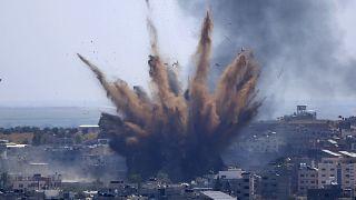 Bombardeo israelí registrado el pasado martes sobre en la ciudad de Gaza