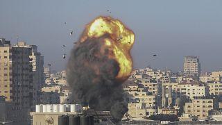 قطاع غزة تحت القصف