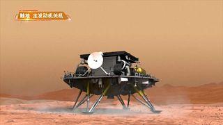 Китай впервые посадил на поверхность Марса космический аппарат