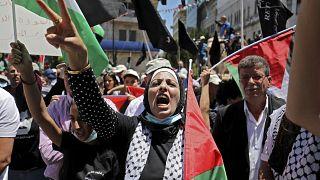فلسطينيون يحيون النكبة في رام الله