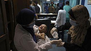 Im Krankenhaus nach dem Angriff auf das Al-Shati-Camp in Gaza