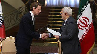 Avusturya Şansölyesi Sebastian Kurz ve İran Dışişleri Bakanı Cevad Zarif (İran)