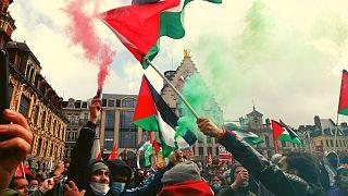 تظاهرات در شهر لیل فرانسه در حمایت از فلسطین