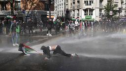 Avrupa'da Filistin'e destek gösterileri: İzinsiz eyleme Paris polisinden sert müdahale