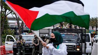 تظاهرات في مدن أوروبية وعربية تضامناً مع الفلسطينيين