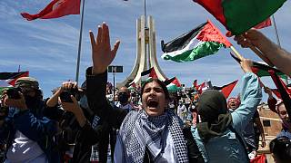 Hundreds rally in Tunisia in support of Palestinians