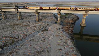 Ganj Nehri kıyısında kumsala gömülen cesetler