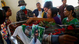 یکی از کشتهشدگان اعتراضات میانمار (عکس تزئینی است)
