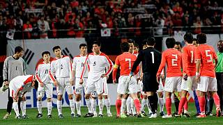 دیدار تیمهای فوتبال کره جنوبی و شمالی