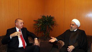 Türkiye Cumhurbaşkanı Recep Tayyip Erdoğan, İran Cumhurbaşkanı Hasan Ruhani ile birlikte / Malezya /2019