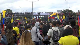 Students protest against Colombian government