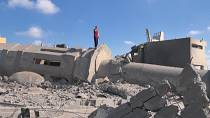 Mosque in Gaza hit by an Israeli air strike