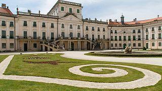A fertődi Esterházy-kastély 2020. május 22-én.