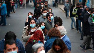 صف رایدهندگان در شیلی