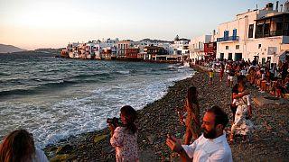 Mykonos : ce n'est pas encore l'heure de la fête, mais les touristes reviennent