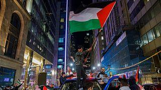مظاهرة للتعبير عن الدعم لشعب فلسطين، تورنتو 15 مايو 2021
