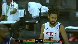 Moment: J. Cole scores 3 pts in Basketball Africa debut