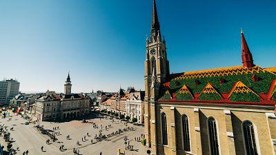 Central square in Novi Sad
